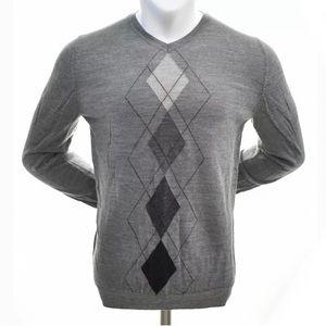 Apt. 9 Merino Wool V-Neck Sweater Men's XL